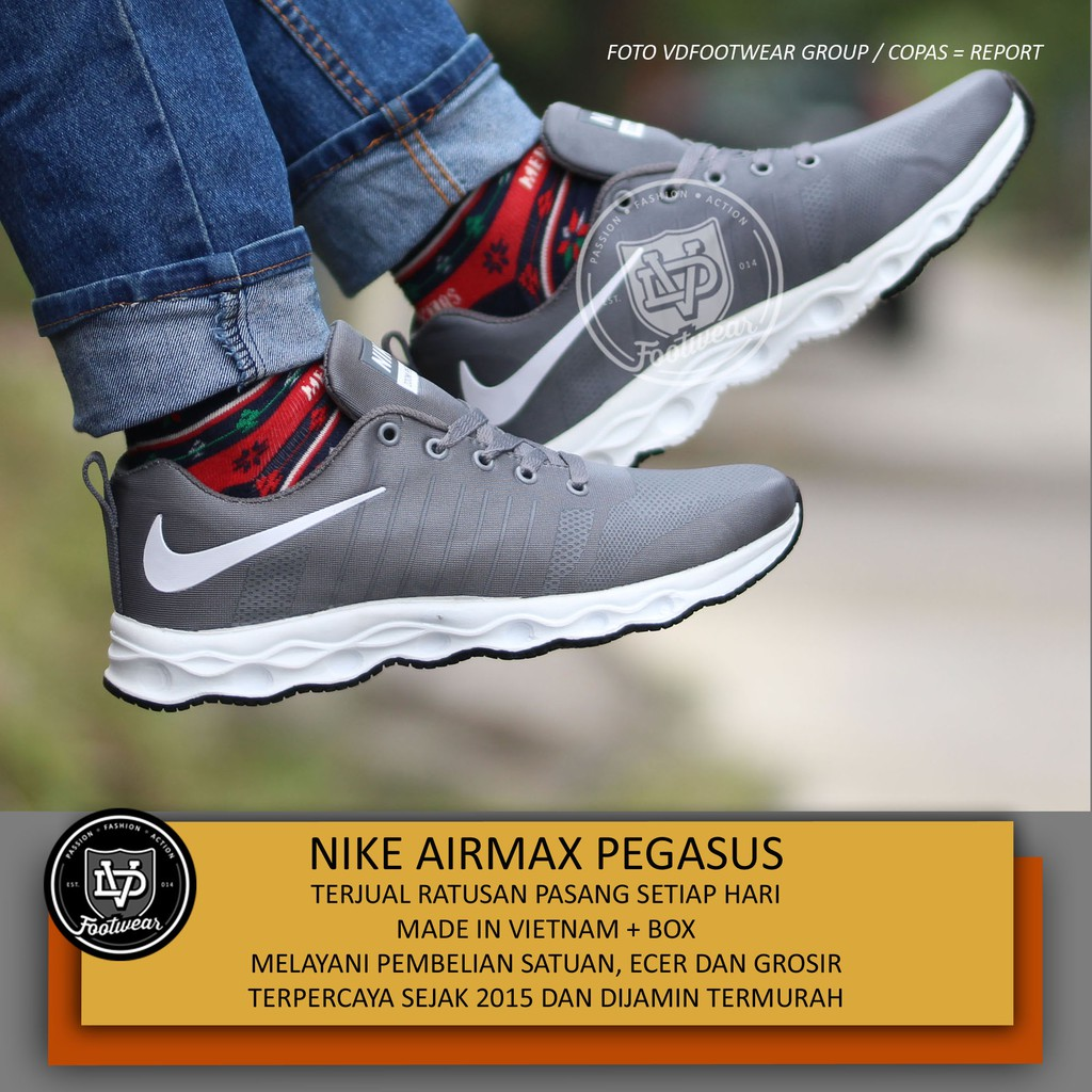 Nike Zoom Flyknit size 39 - 43 sepatu pria man olahraga gym fitness running  lari hitam biru abu  f71744daa0