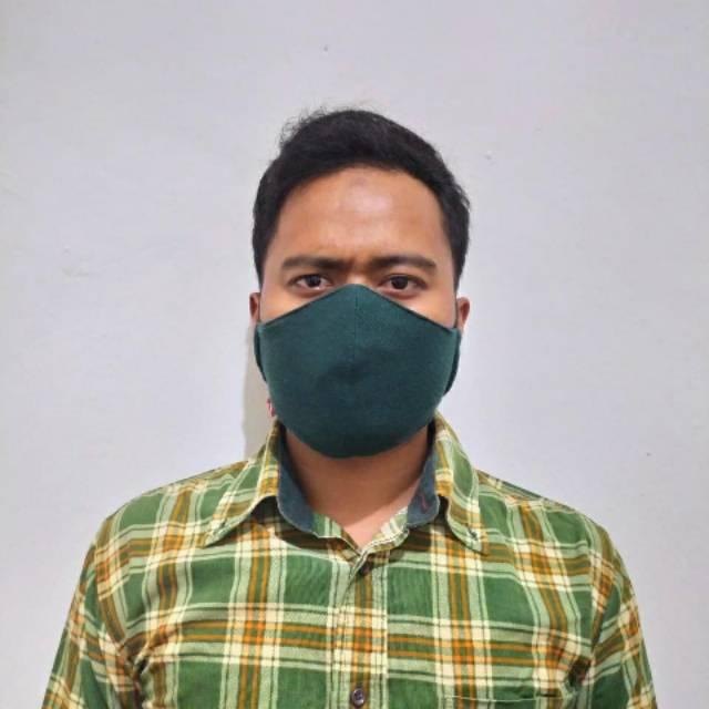 Masker Kain Tali Duckbill Unisex empat warna Adjustable ...