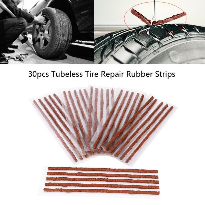 Tire Repair Near Me Open Sunday >> 30pcs Tubeless Tyre Tire Puncture Repair Seal Rubber Strips For Car Motorcycle