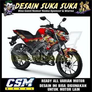 718 Dekal Decal Motor New Vixion R 2018 Stiker Sticker Striping Body Zombie Shopee Indonesia