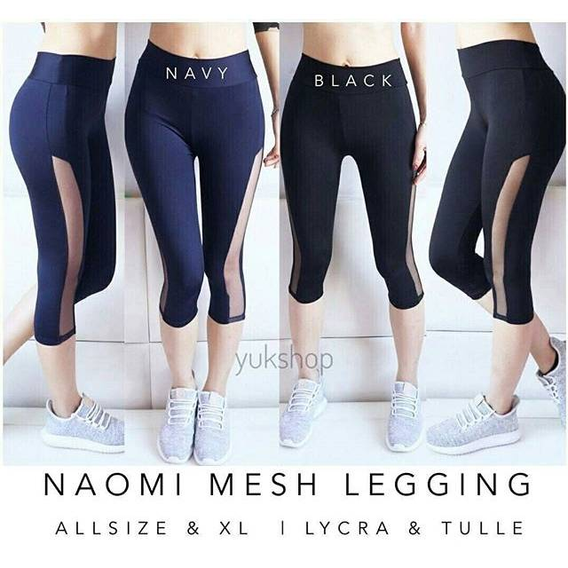 Naomi Mesh Legging Celana Olahraga Wanita Senam Aerobik Zumba Yoga Fitness Termurah Terlaris Shopee Indonesia
