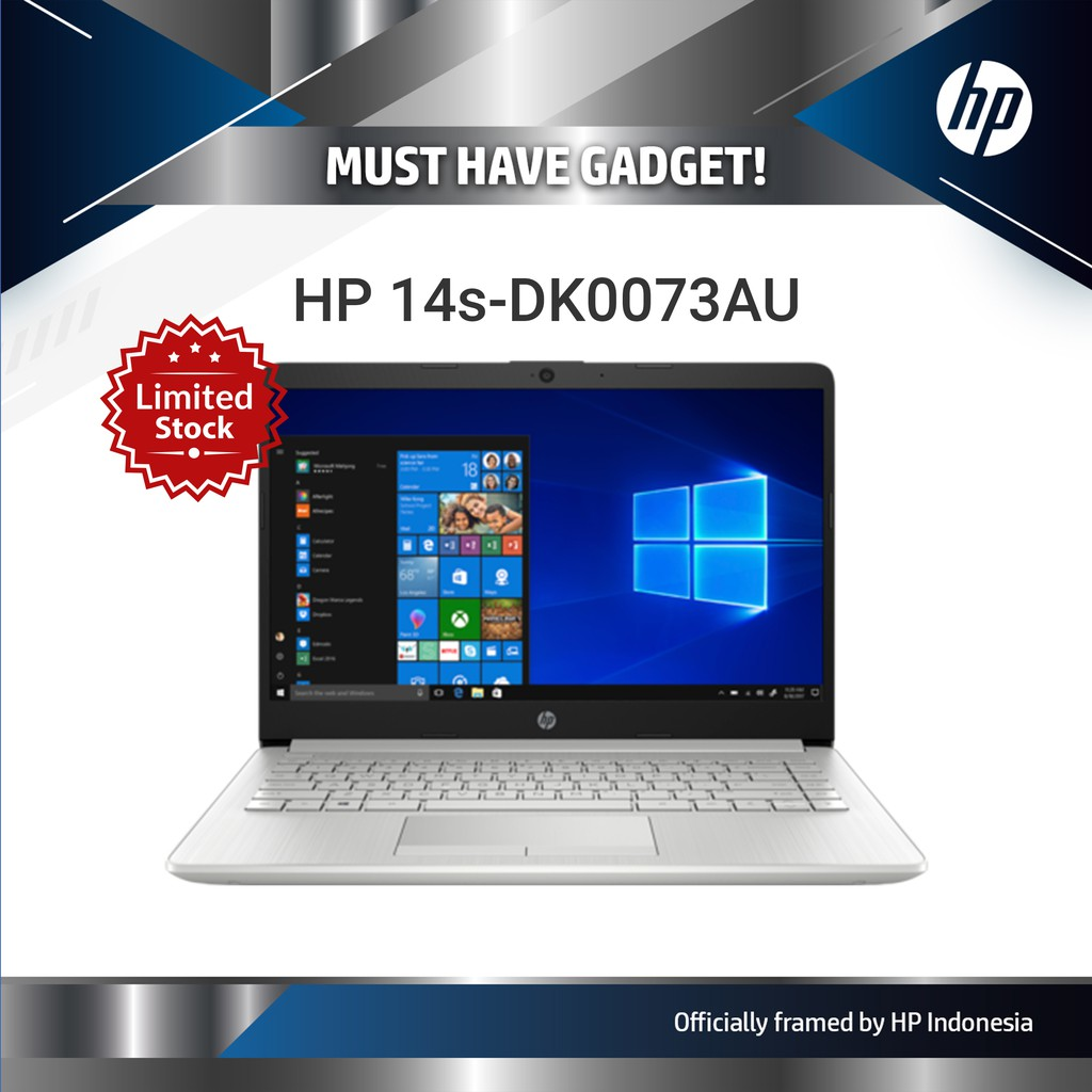 Hp Laptop 14s Dk0073au Shopee Indonesia