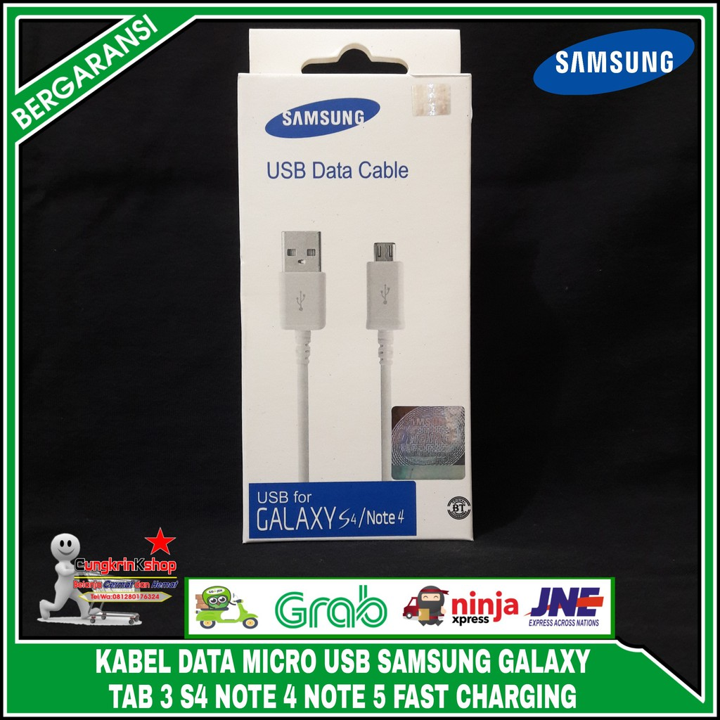 Charger Samsung Galaxy Original 100 S3 S4 Note 2 Grand J1 J2 J5 J7 Kabel Data Mega Shopee Indonesia