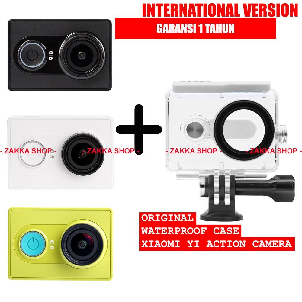 Xiaomi Yi Action Camera International Edition Original Waterproof Sport Kamera Basic Case Shopee Indonesia