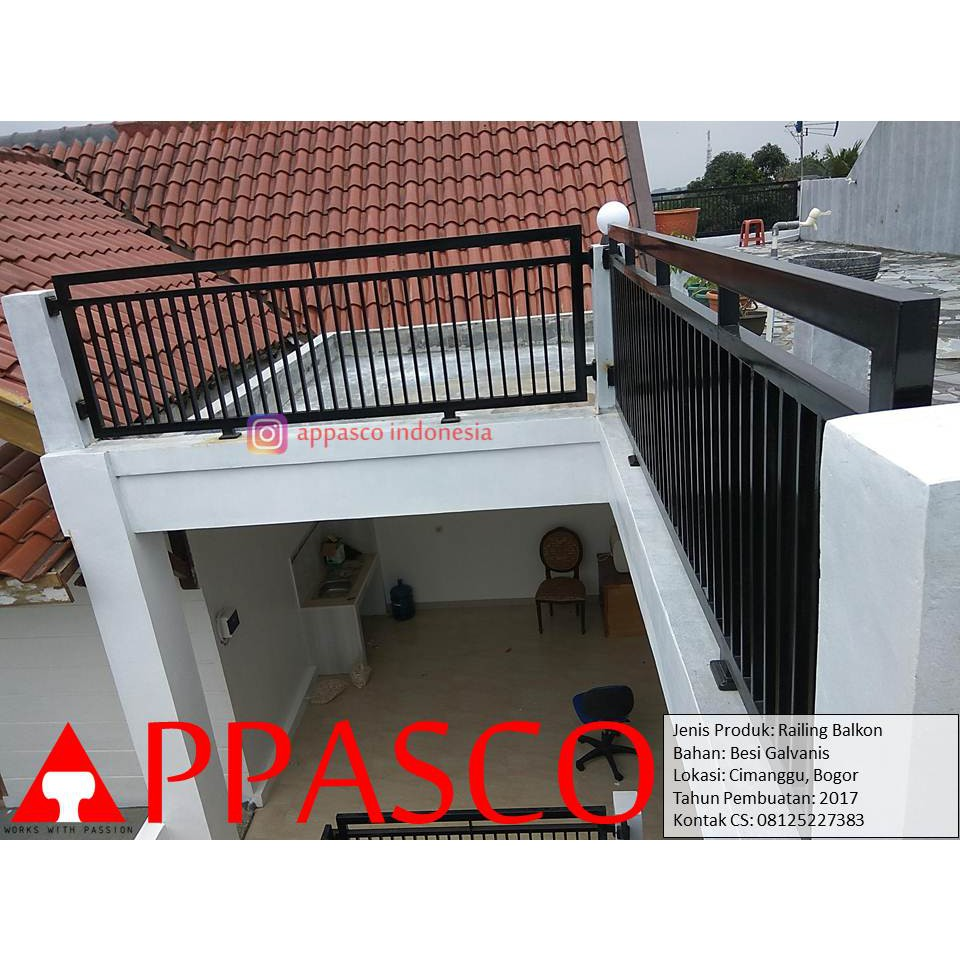 Railing Balkon Minimalis Di Cimanggu Bogor Shopee Indonesia