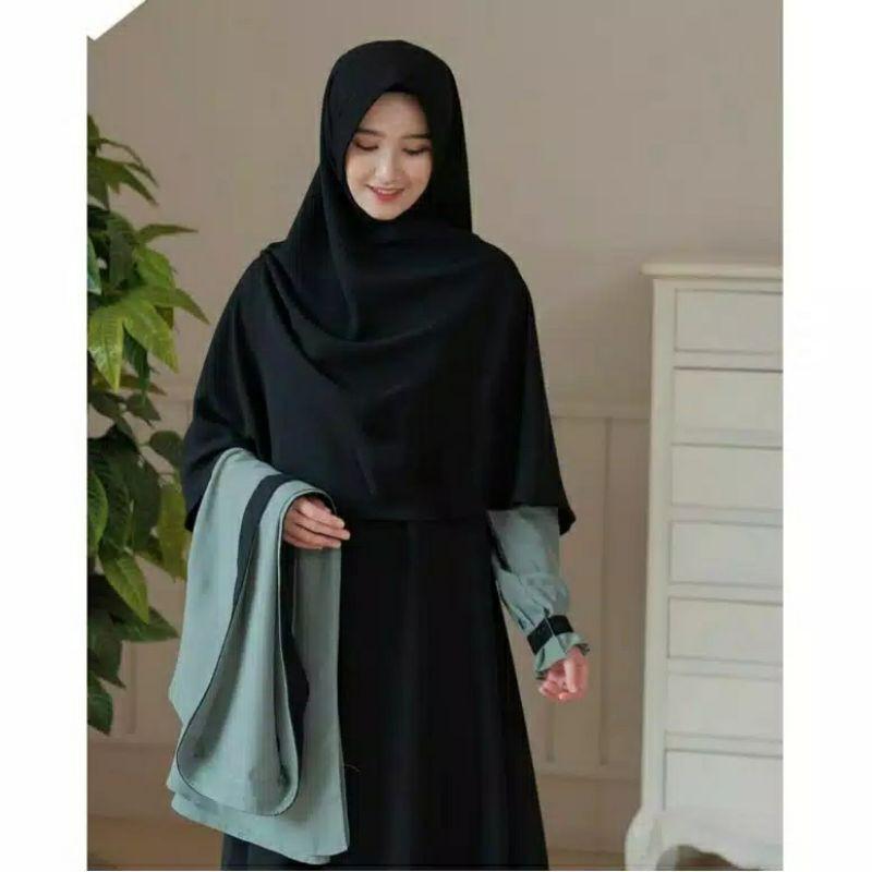Elbina set gamis + hijab