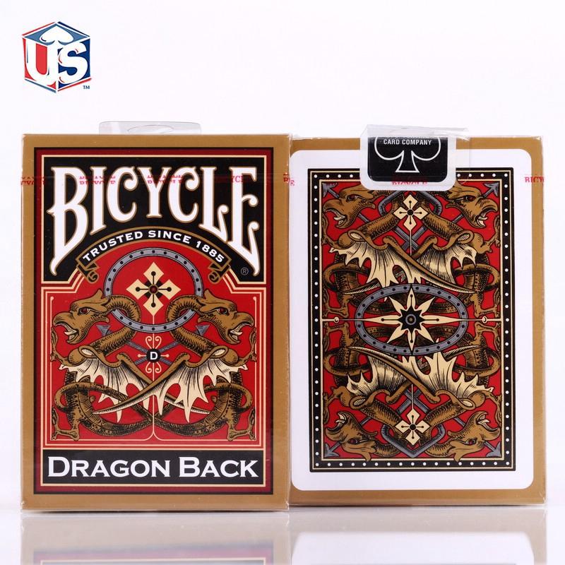 Kartu Remi Keemasan Bicycle Dragon Back Playing Cards Uspcc Poker Permainan Kartu Sulap Properti Sulap Shopee Indonesia