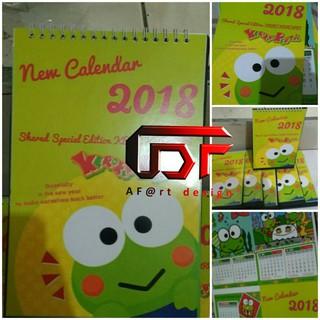 Kalender Meja Kalender Duduk 2021 Custom Free Design ...
