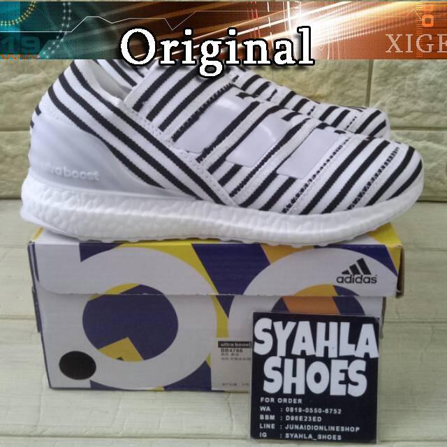 8afa0f69e Sepatu Model Adidas Nemeziz Tango 17 + 360 Agility Ultra Boost Warna Putih  Hitam
