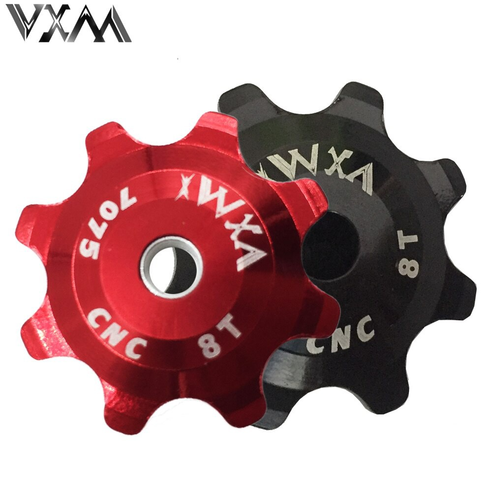 PRODUK IMPORT VXM Bicycle Ceramics Jockey Wheel Rear Derailleur Pulley 8T 7075 Aluminum alloy MTB