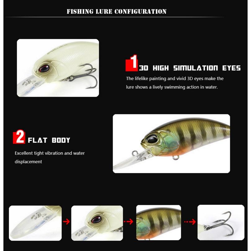 5pcs//lots Fat Popper Fishing lures Topwater Fishing Baits 5.5cm Wobblers 10.4g