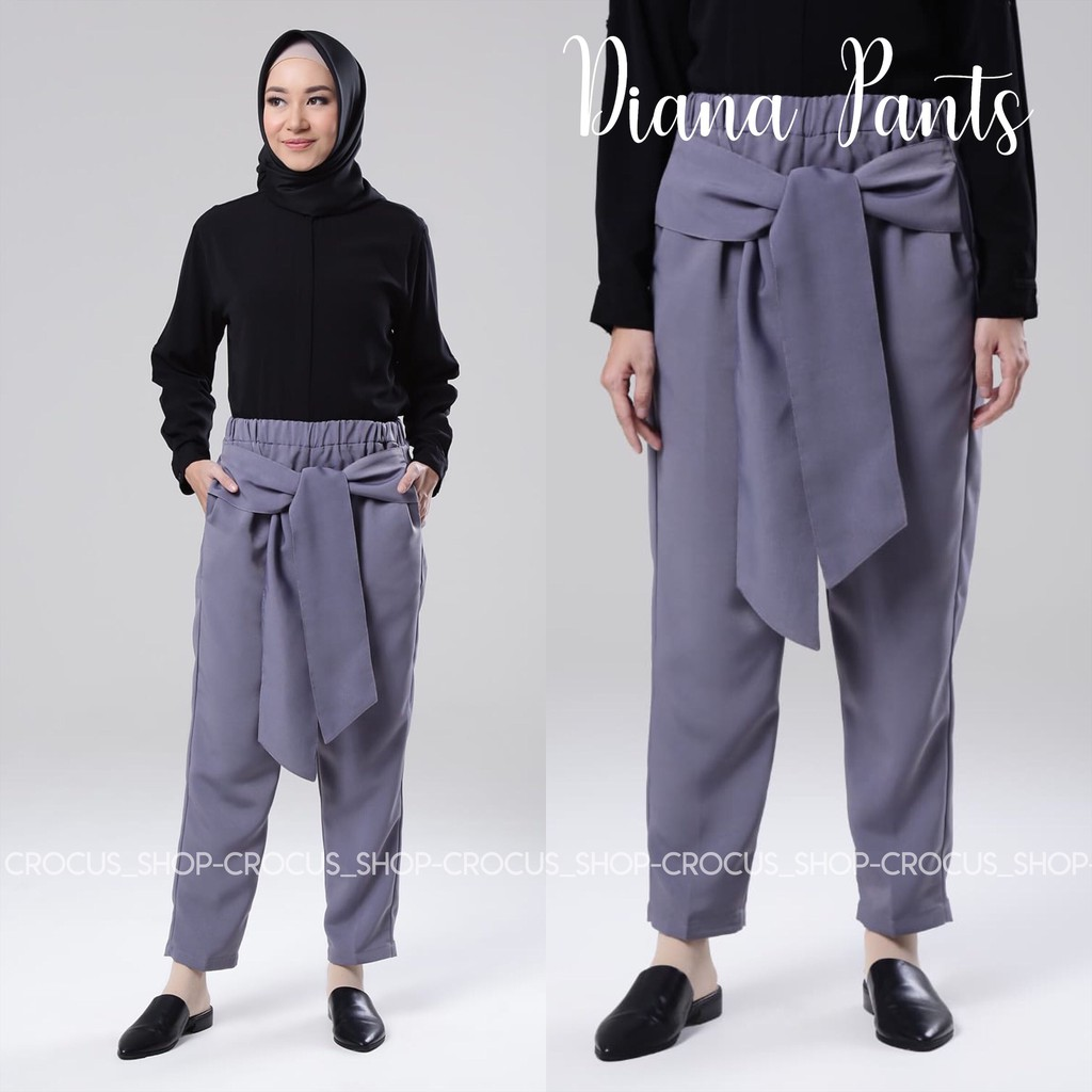 Cs Kelly Scuba Pants Celana Kerja Shopee Indonesia Nagita Zara List Side Stripe Hitam Merah Bahan