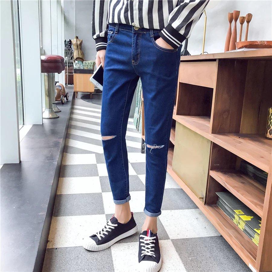 Celana Panjang Jeans Slim Fit Korea Untuk Musim Panas Shopee Indonesia Lois Original Pria Sls430 Navy 31