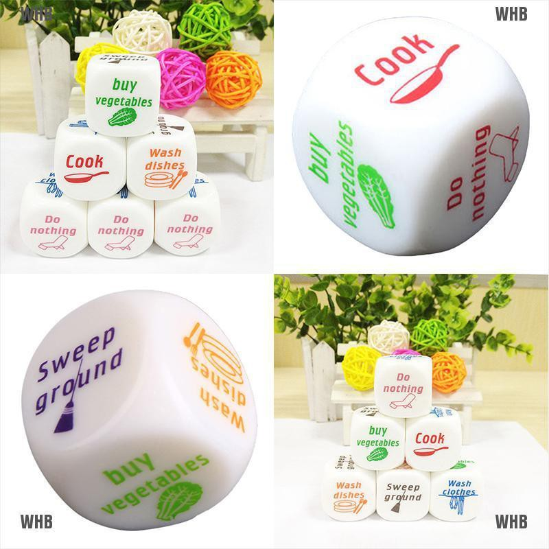 1x Dice Game Toy For Adult Love Couple Housework Duties Sex Fun Novelty W Hb