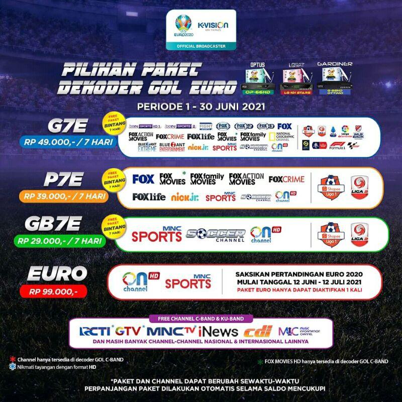 Paket Euro K-VISION GOL