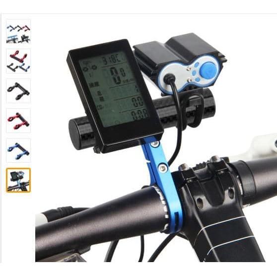 Bicycle Extension Bracket MTB Bike Handlebar Aluminum Alloy Extender Holder 20CM