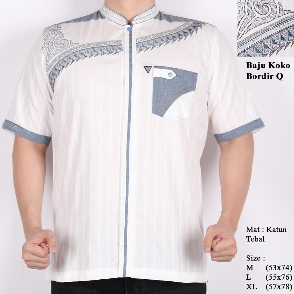 Dapatkan Harga Baju Koko Muslim Diskon Shopee Indonesia Pria Bordir Type 002