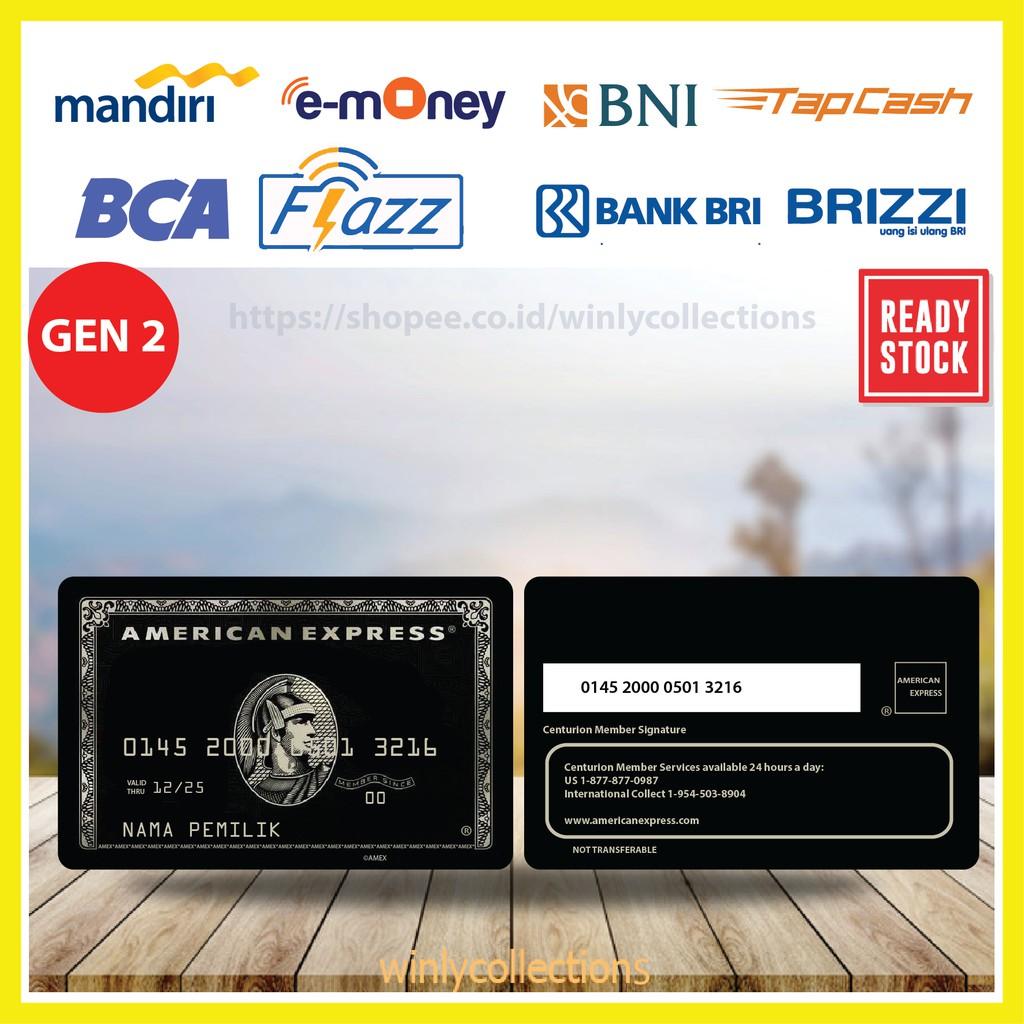 Emoney E Toll American Express Card Amex E Money Mandiri Flazz Bca Gen 2 Bni Tapcash Brizzi Bri Shopee Indonesia