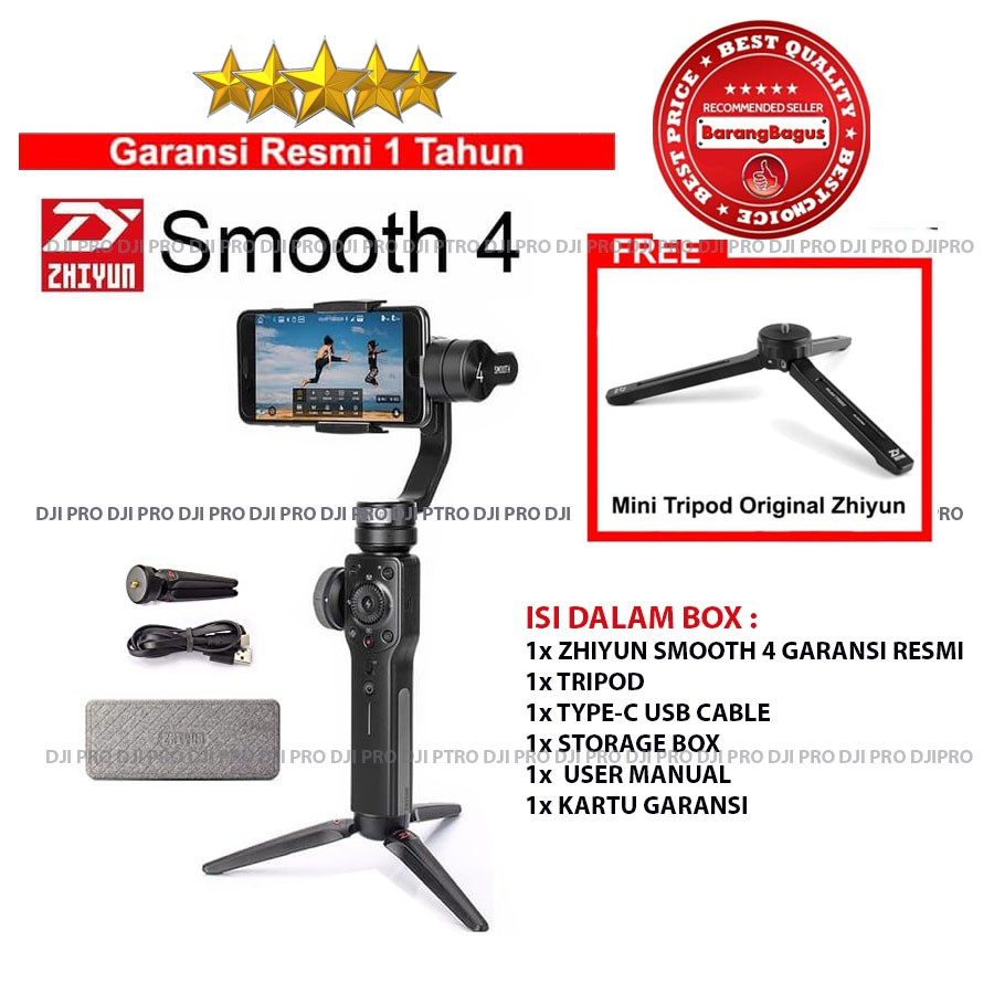 Zhiyun Smooth 4 White Edition Gimbal 3 Axis Smartphone Stabilizer Moza Air Remote Handheld Camera Garansi Resmi Shopee Indonesia