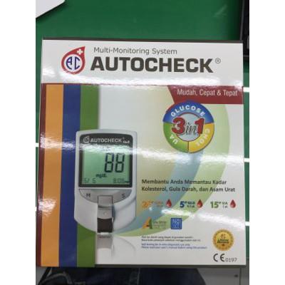 Autocheck Multi 3In1 Cek Kolestrol,Asam urat Dan Gula Darah Akuratt   Shopee Indonesia