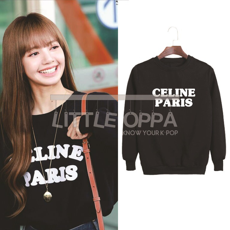 Idol Fashion Blackpink Lisa Cel1n3 Paris Sweater Shopee Indonesia