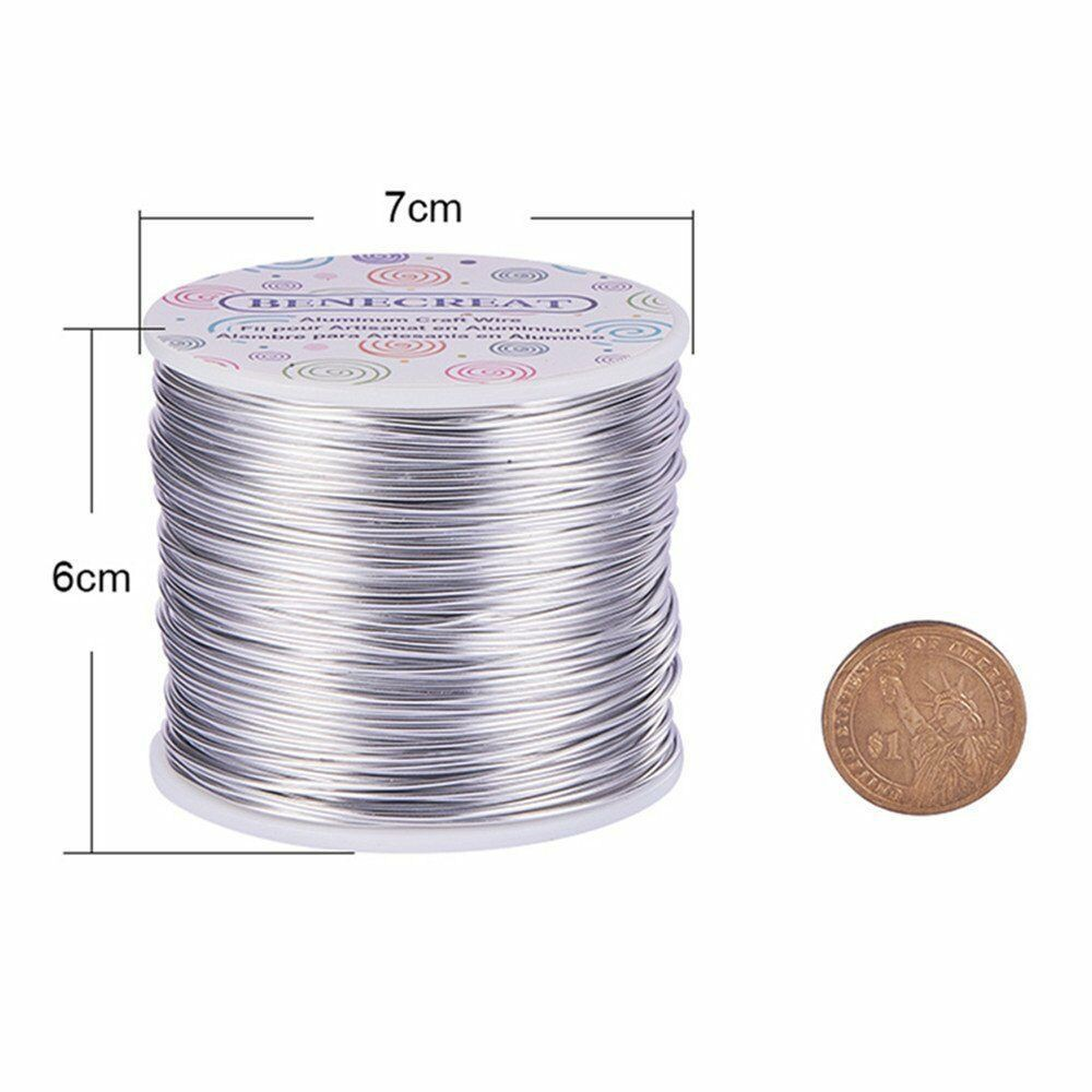50 Meters Steel Tiger Tail Beading Wire for DIY Jewelry Making 0.38mm Silver