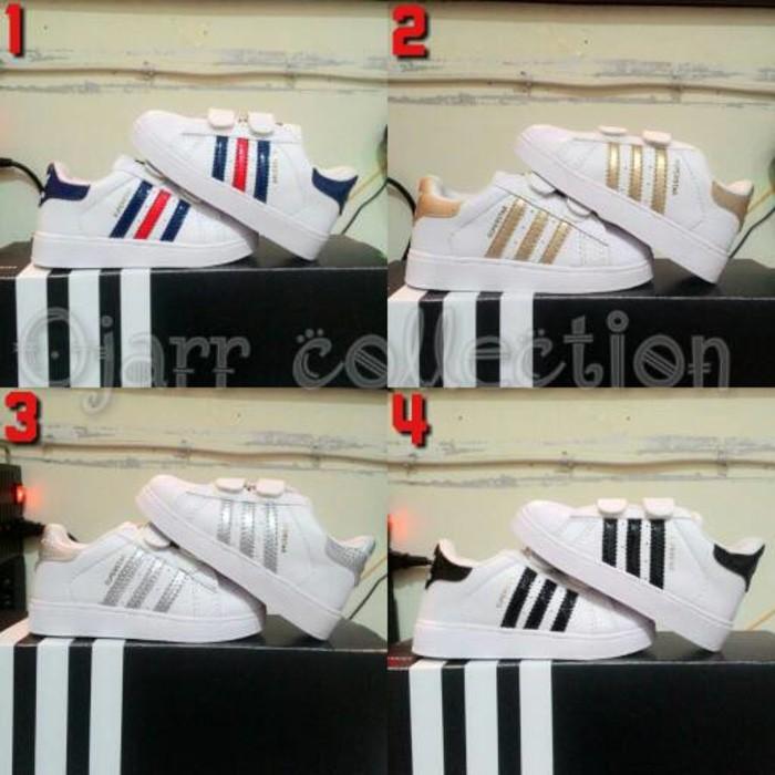 Termurah Sepatu Adidas Superstar Anak Cewek Cowok Laki Perempuan 2 3 4 5  Tahun - Club Fashion Shop  1f2f180644