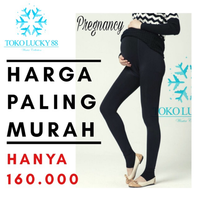 Import Legging Thermal Pregnancy Celana Legging Hamil Shopee Indonesia