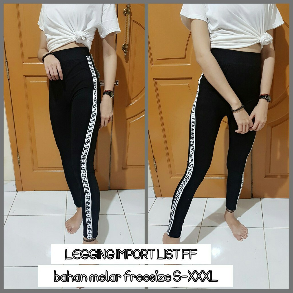 Terlaris Celana List High Quality Bawahan Legging Model Casual Terkini Shopee Indonesia