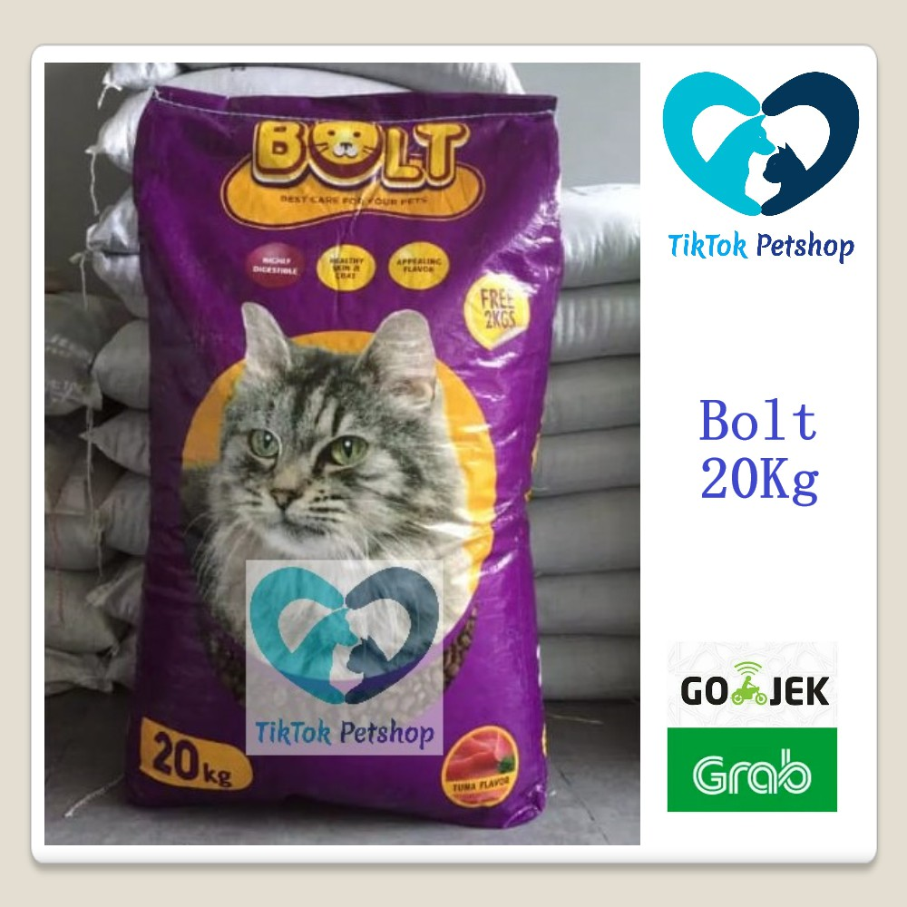 Grab Gojek Makanan Kucing Bolt Food Cat 20 Kg Untuk Jenis Kucing Persia Anggora Kampung Shopee Indonesia