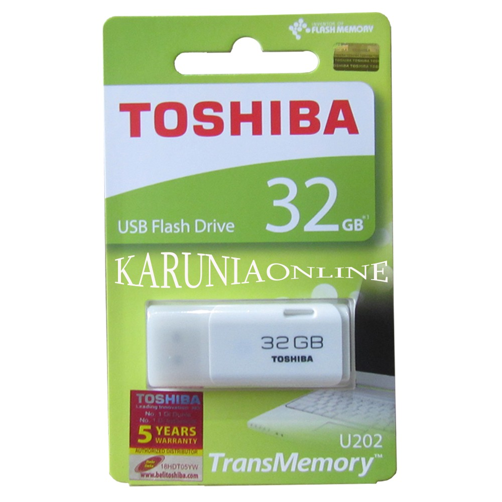 Toshiba Flashdisk Hayabusa 32GB White