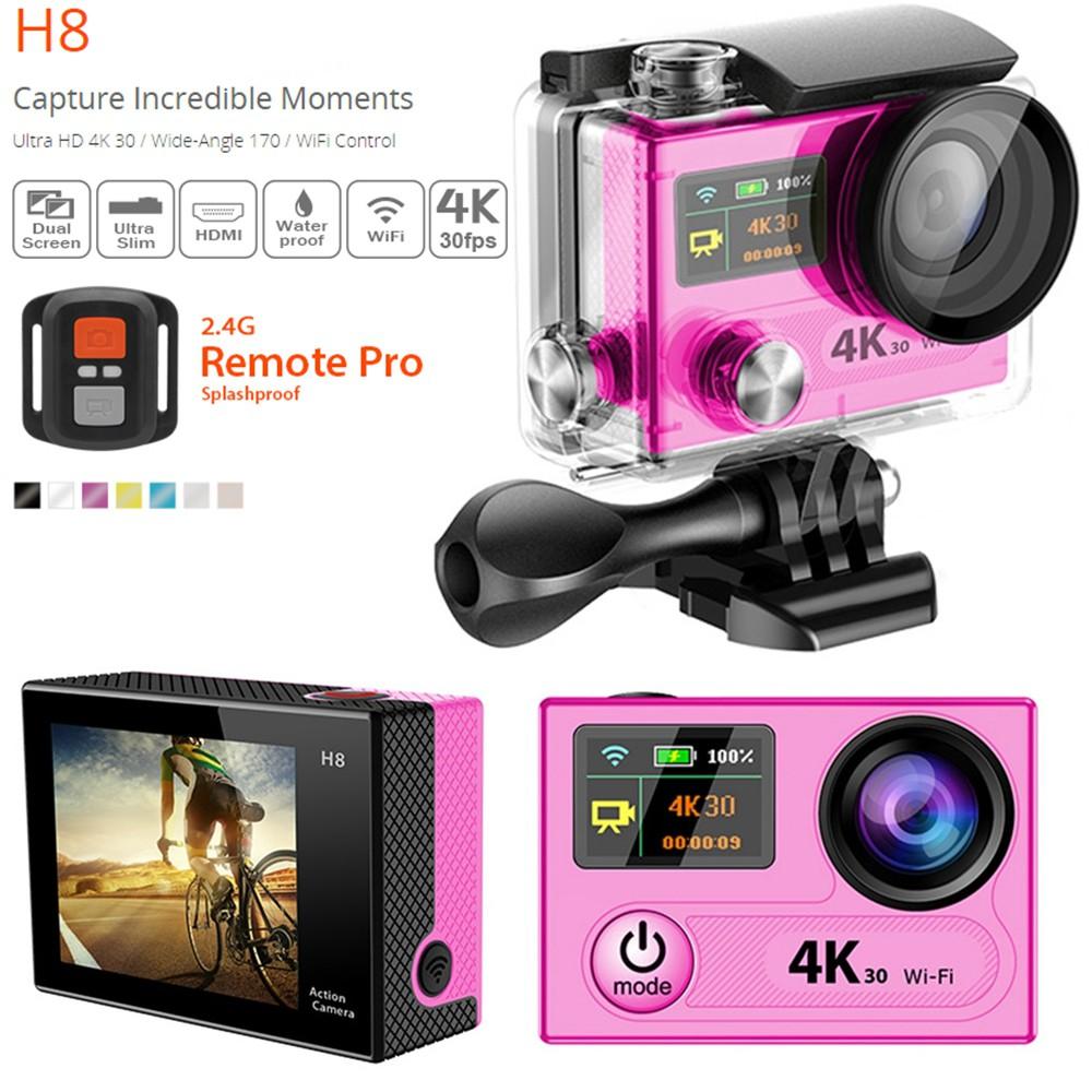 Eken H8 Ultra Hd 4k 1080p Waterproof Sports 170 Wide Wifi Action Kamera Sport Go Pro Kogan Camera Dv Shopee Indonesia