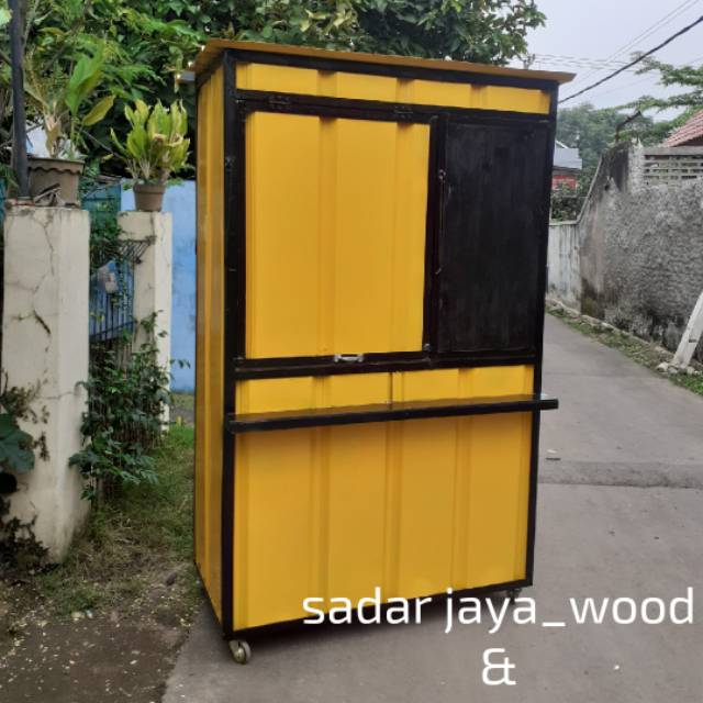 Gerobak booth usaha semi kontainer