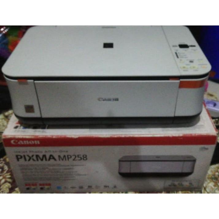 Preloved Printer Canon Pixma Mp258 Print Scan Copy Shopee Indonesia