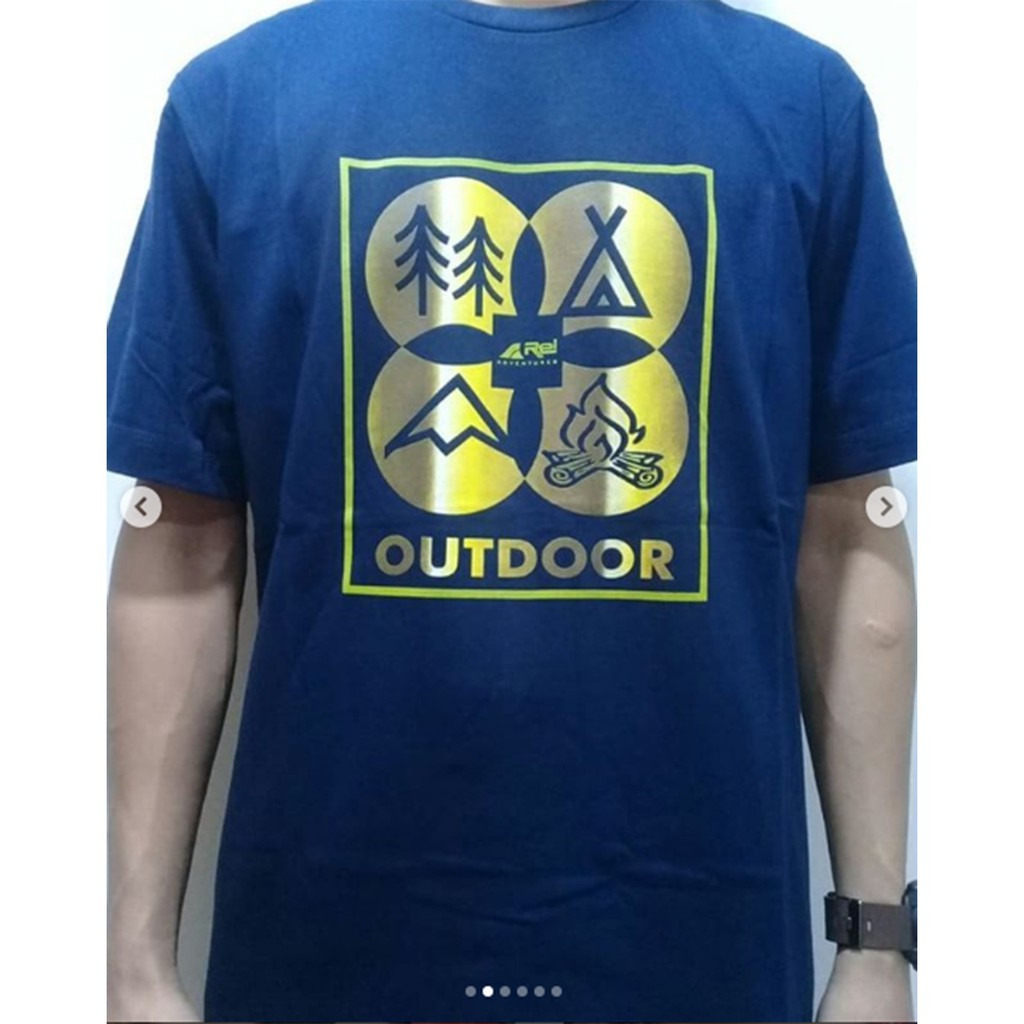 Rei Outdoor Arei Kaos Gamma Shopee Indonesia Eiger Riding Ride Classic Ol T Shirt Navy Pria Xl