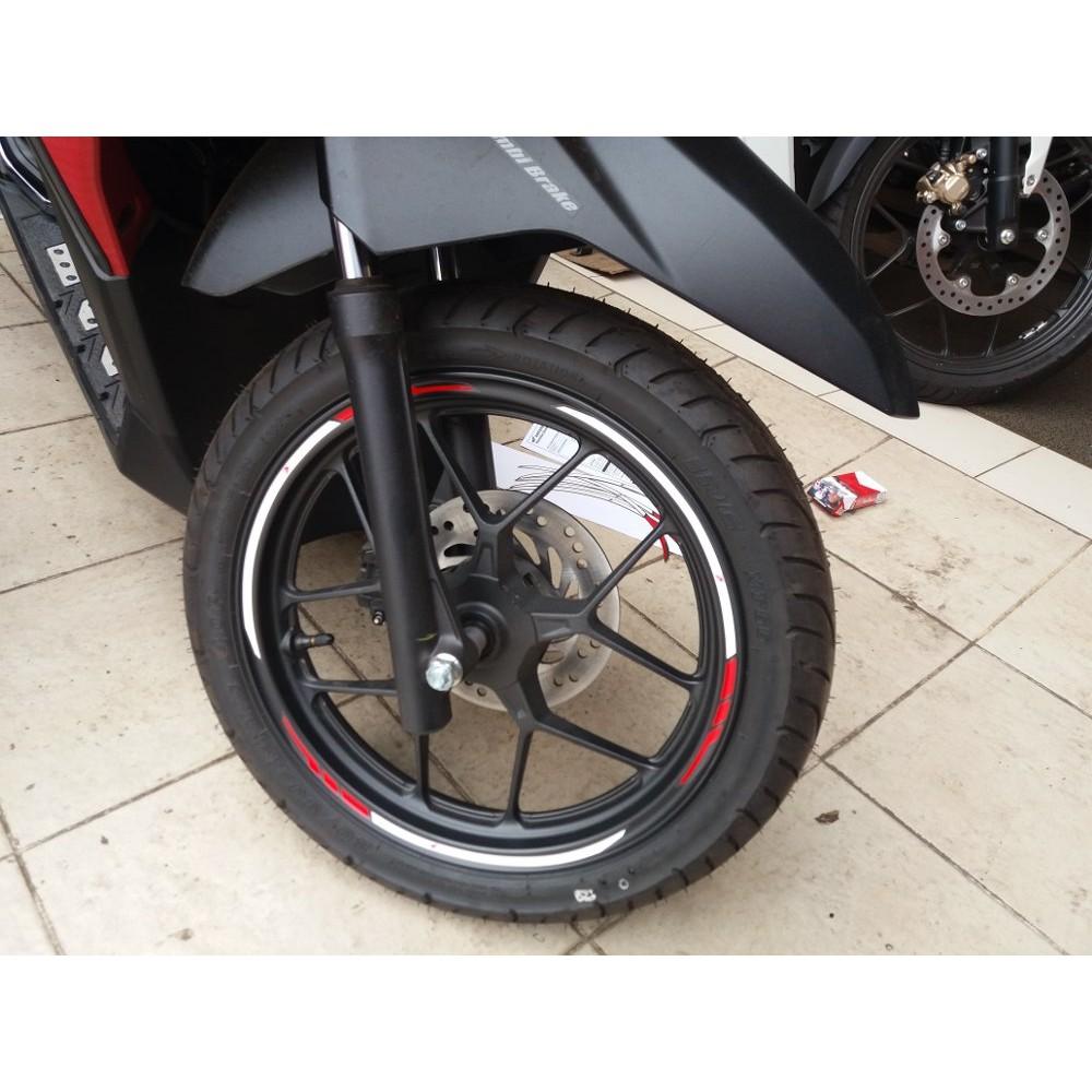 Decal Sticker Velg Zian Rossii Thailand Shopee Indonesia Stiker Motor Honda Vario 150 125 All New 2018 Untuk Velk Ring 14 Merah