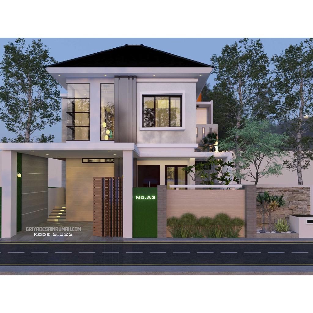 desain rumah lantai 2 kamar 3