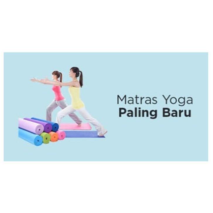 [FREE ONGKIR + BONUS TAS] MATRAS YOGA GOOD QUALITY 6 MM | Shopee Indonesia