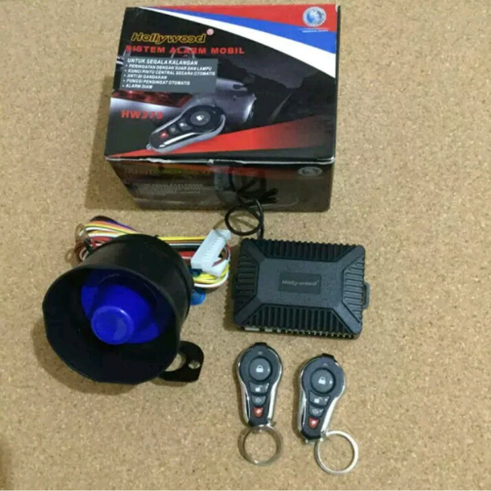 Alarm Remot Mobil Universal Hollywood Berkualitas Tuk Stealth Bunyi Plus Kunci Car System Slide Slim Anti Maling High Qu Shopee Indonesia