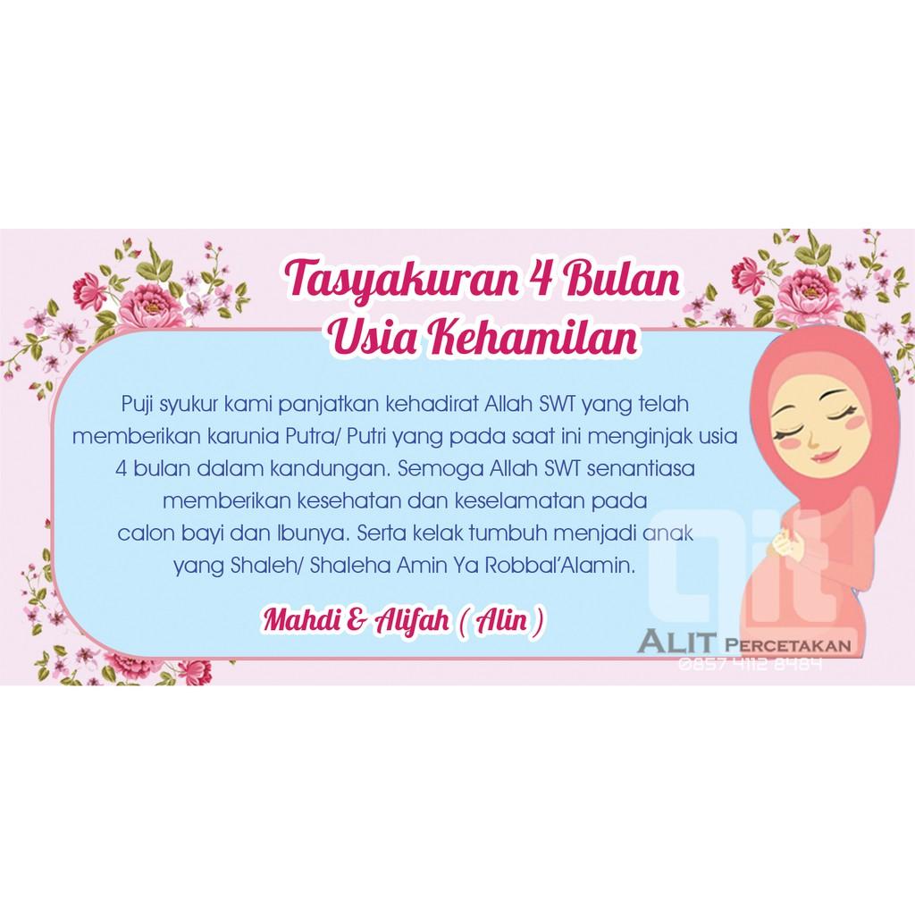 Sticker Tasyakuran 4 Bulan Kehamilan Shopee Indonesia