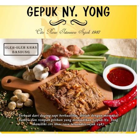 Gepuk Ny. Yong. Daging Empal asli Bandung 250 gr isi 5 pc | Shopee Indonesia