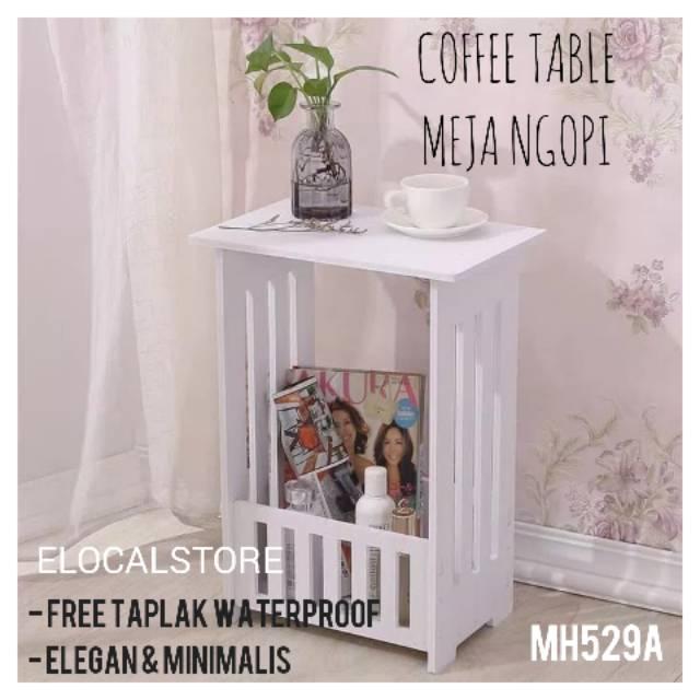 [UNYIL] OKe Meja Ngopi Kopi Bulat Kecil Round Coffee Table Kayu Wpc Shabby Chic Vintage MH515 | Shopee Indonesia