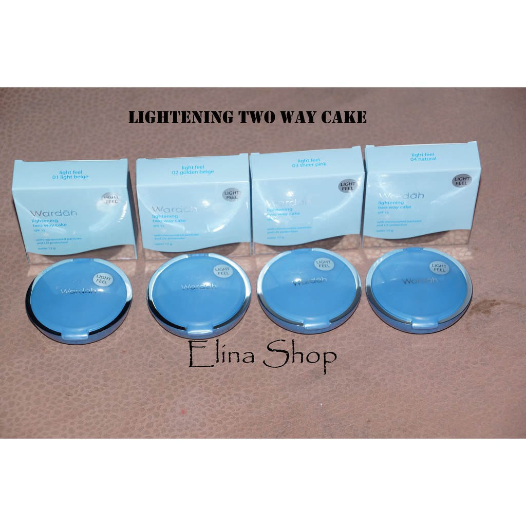 Up To 22 Discount Elina Online Shop Wardah Lightening Two Way Cake Light Feel Bedak