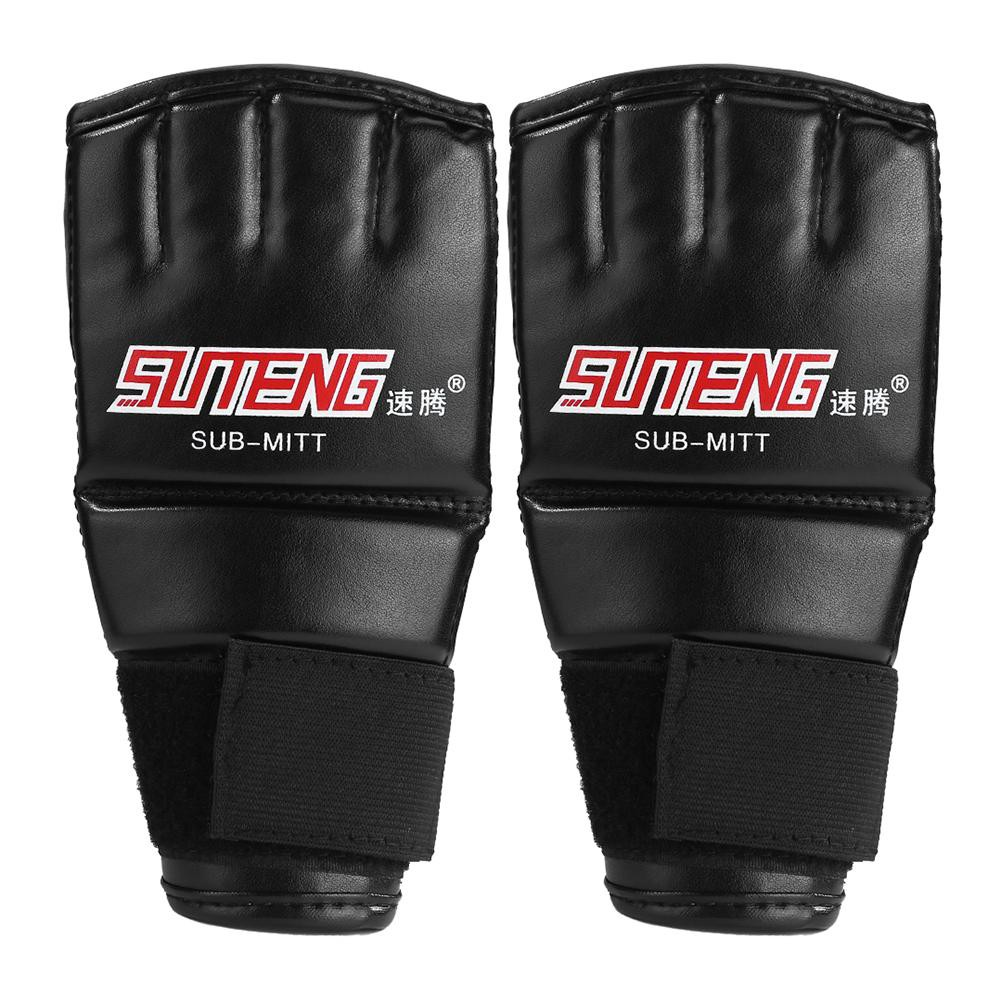 Boxing Gloves Half Finger MMA Combat Gloves Sanda Gym Mitts for Women Men