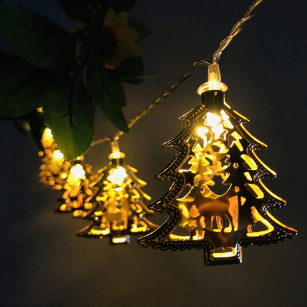 Led String Lights Wrought Iron Deer Christmas Tree Lights String Holiday Party Garden Decoration Shopee Indonesia