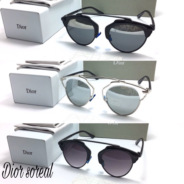 Kacamata dior so real gold sunglasses black silver leopard original zalora  case  e10f696429