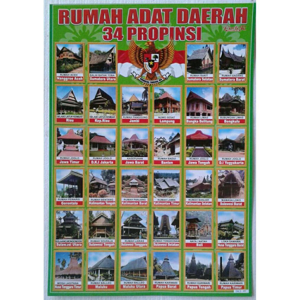Poster Rumah Adat Daerah Shopee Indonesia
