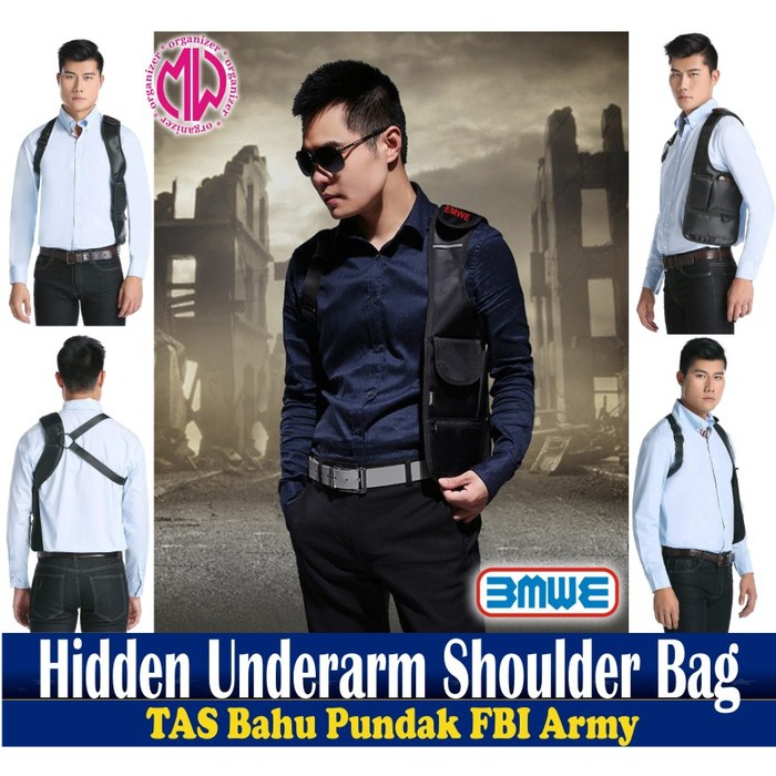 Tas Gadget Bahu Pundak Army Polisi FBI Agen 007 Bag Organizer multifungsi polisi army multi fungsi   Shopee Indonesia