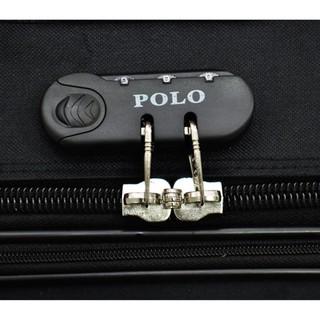 Polo Team 931 Koper Kabin Size 20 inch Gratis Pengiriman JABODETABEK - Hitam .
