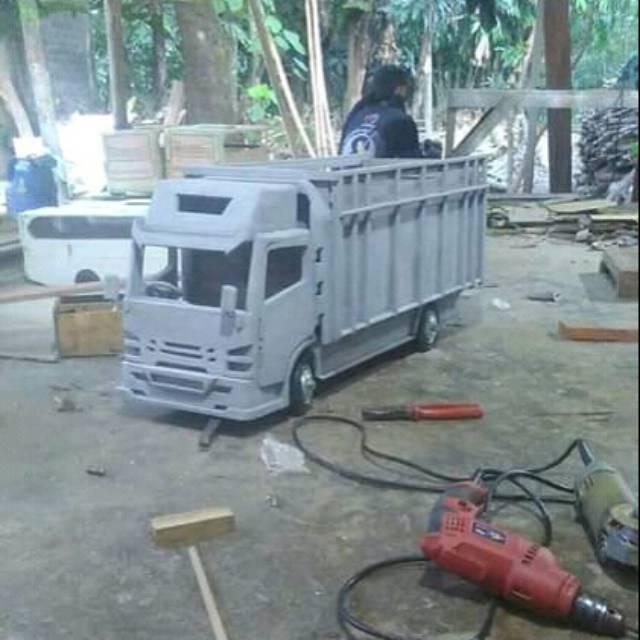 Miniatur Truk Kayu Skala Besar Shopee Indonesia